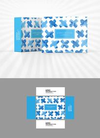 水彩色块底图包装盒设计