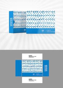 水彩网格包装盒设计