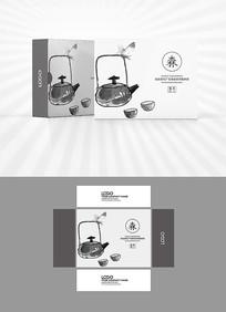 水墨茶叶包装盒设计