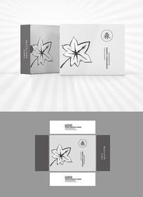 水墨枫叶包装盒设计