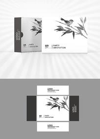 水墨花鸟包装盒设计