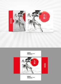 水墨画中国风包装盒设计