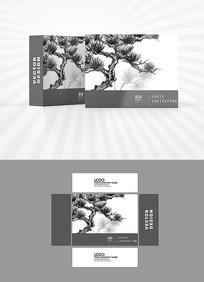 水墨松树包装设计