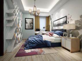 现代混搭卧室 设计模型