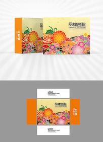 樱花背景包装盒设计