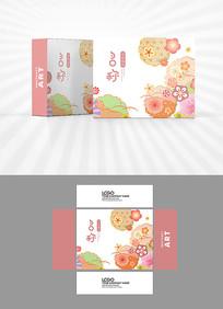 樱花图案包装盒设计