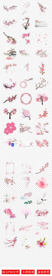 樱花展花季赏花粉色桃花素材