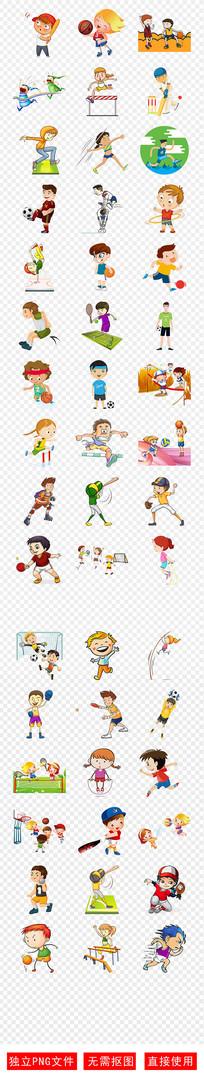 运动健康人物会体育环保素材