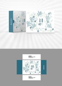 中草药图案包装盒设计