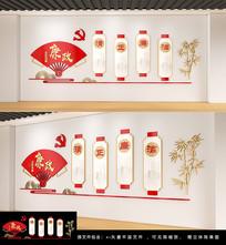 中国风廉政党建文化墙雕刻展板