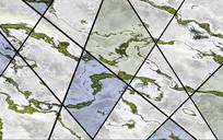 3D抽象大理石几何背景墙
