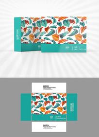 彩色树叶包装盒设计