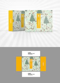大树斧子图案背景包装设计
