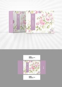 粉红玫瑰包装盒设计