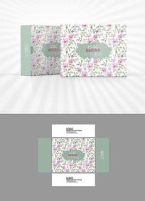 粉红玫瑰背景包装盒设计