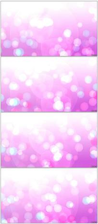粉红色梦幻光斑背景视频