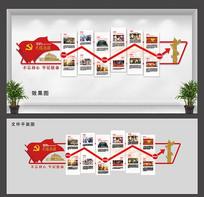 光辉历程文化墙设计