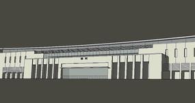 火车站建筑模型