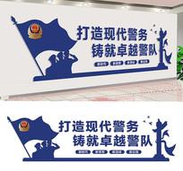 警营文化墙宣传围墙设计