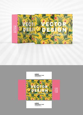 绿叶背景包装设计