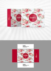玫瑰背景包装设计