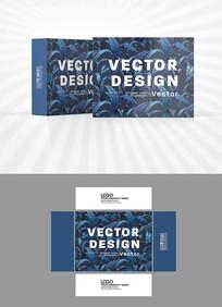 深蓝色背景包装盒设计