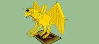 神龙雕塑SU模型
