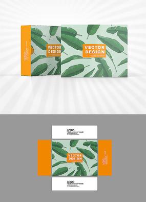 树叶背景包装设计