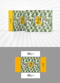 树叶底纹包装盒设计