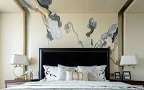 卧室的祥云卧室背景墙