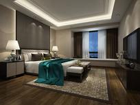 现代感卧室设计模型