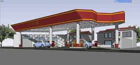 现代石化加油站