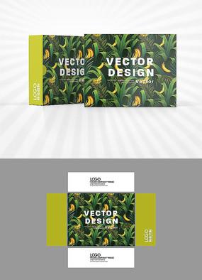 香蕉背景图包装设计