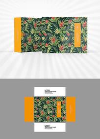植物背景包装盒设计