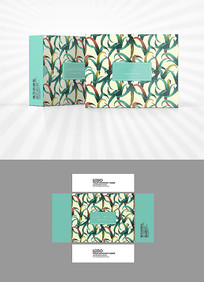 植物底纹包装设计