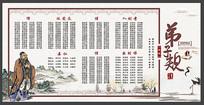 中国文学国学经典弟子规展板