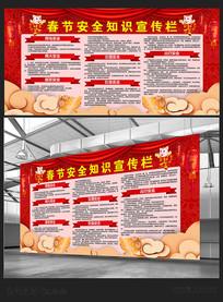 春节安全知识宣传栏展板设计