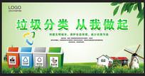 绿色垃圾分类宣传展板