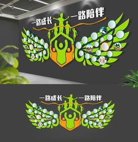 翅膀员工风采照片墙企业文化墙
