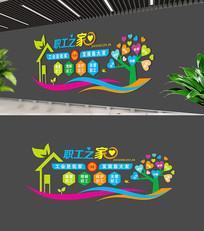 社区职工之家工会文化墙