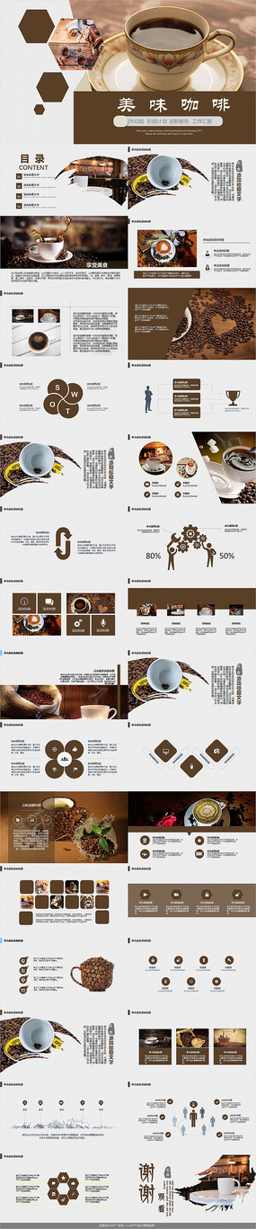 咖啡馆咖啡厅PPT模板