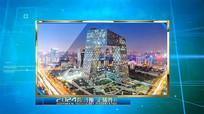蓝色科技图文AE视频模板
