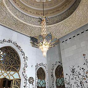 欧式室内浮雕雕刻吊灯