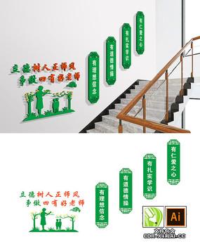 校园四有好老师楼梯文化墙