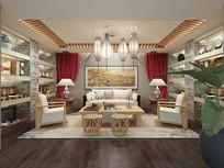 新中式礼品店3D模型