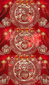 猪年春节舞台LED背景视频