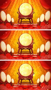 4K中国风春晚开场大鼓舞背景视频素材