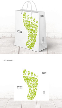 个性创意脚印企业宣传手提袋