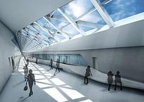 建筑玻璃天窗建筑室内