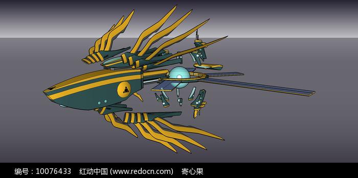 空间战争概念艺术SU模型图片
